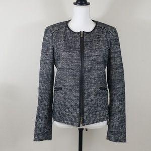 Hugo Boss Knit Blazer Leather Trim C5